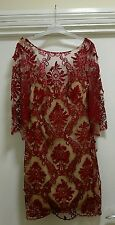 BNWT Stunning Marchesa Notte Emb Dress size UK12 RRP £990 sell for £100