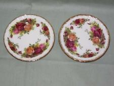 Royal Albert Old Country Roses 2 Pin Dishes, Coasters or Butter Pats Ex. Cond.