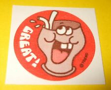 Vintage 80's TREND Scratch n Sniff MATTE Sticker GREAT! Cola Soda Pop Scent~Rare