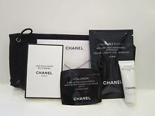 New Chanel Cosmetic Bag, Mascara, Vitalumiere, Le Blanc, Beige EDT & Card!!