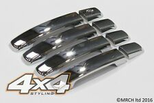 NISSAN QASHQAI 2007 + chrome EXTERIOR DOOR HANDLE COVERS TRIM SET (4 PEZZI)