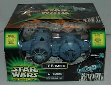 STAR WARS POTJ - TIE BOMBER WITH IMPERIAL PILOT ACTION FIGURE NEW MIB 2001 RARE
