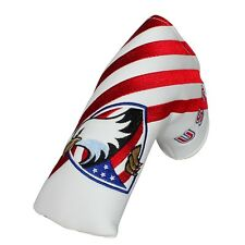New American Eagle Flag Blue Red White Blade Putter Head Cover By Craftsman Golf
