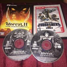 Unreal ii the awakening & unreal tournament 2003 & unreal tournament pc cd-rom
