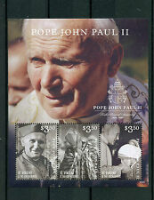 St Vincent & The Grenadines 2015 MNH Pope John Paul II 10th Memorial Ann 3v M/S