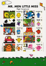 2016 MR MEN and LITTLE MISS STAMPS SMILERS COLLECTORS SHEET Mint