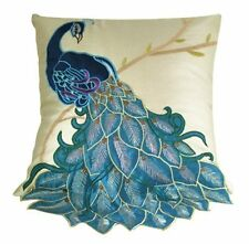 New Vintage Vivid Peacock Embroidery Decorative Throw Pillow Case Cushion Cover