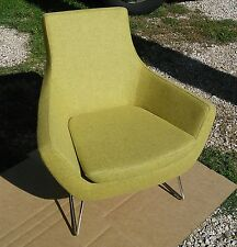 sohoConcept Rebecca Slide Chair - Green, Organic Wool Fabric