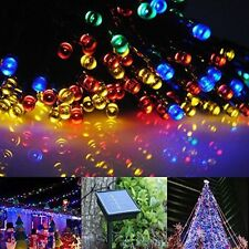 10M 22M 32M Solar Power 100/200/300LED Copper Wire Fairy Light String Lamp Party