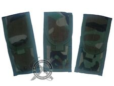 New 3 Genuine Military Issue MOLLE II Double Mag Pouch Woodland Camo USGI SDS