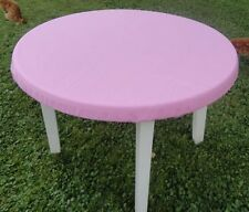 "Bridge card table covers PINK Poker Tablecloth FITS 48"" ROUND TABLE"