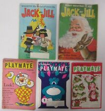 Vintage Lot 1960's 70's PLAYMATE and JACK & JILL Children's Magazines CHRISTMAS