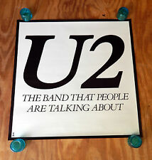 U2 - THE BAND THAT PEOPLE ARE TALKING ABOUT - ORIGINAL ROCK PROMO POSTER (1980)