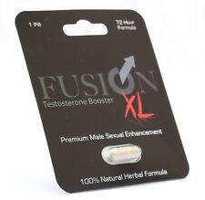 10 x Fusion XL Male Enhancement Pill and Testosterone Booster Penis Enhancer