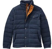 TIMBERLAND MEN'S MT DAVIS WAXED DOWN JACKET, DARK SAPPHIRE. SIZE:XXL