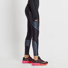 Womens Nike Dri-Fit Power Speed Running Gym Tights SZ XS 719784-028 Black/Violet
