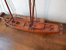 HAND CRAFTED VINTAGE E LECLERC CANADIENNE SCHOONER MODEL SHIP NICE USA SALE