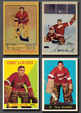 Terry Sawchuk Reprints, 4 card Lot Combo, With Rookie Card, 1951 to 1960 Mint