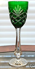 FABERGE ODESSA LIQUEUR CORDIAL GLASS SIGNED, EMERALD GREEN CASED CRYSTAL