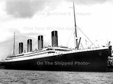 """POSTER PRINT: 18""""x24"""" Borderless: Grand View RMS Titanic At Berth 44 From Water"""