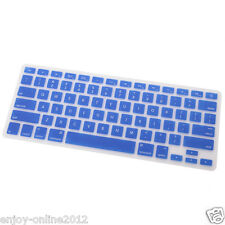 "Blue US Ship Silicone Keyboard Cover Skin for Apple Macbook Pro MAC 13"" 15"" 17"""