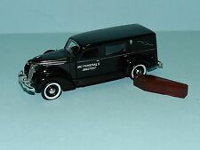 "Phoenix Mint 1/43 1937 Studebaker Hearse Black With Coffin ""MC Funerals"" MiB"