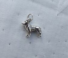HUSKY DOG 3D CHARM 925 STERLING SILVER