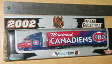 2002 NHL MONTREAL CANADIENS TRANSPORTER TRUCK WHITE ROSE COLLECTIBLES