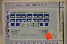 HO scale Microscale Decals APC TTX Thrall Double Stack Containers well Cars