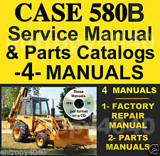 Case 580CK B 580B Hydrostatic & Shuttle Trans SERVICE MANUAL & PARTS MANUALS CD