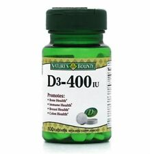 Nature's Bounty Vitamin D 400 IU Tablets 100 Tablets