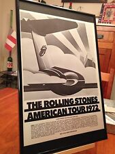 BIG 11X17 FRAMED ROLLING STONES AMERICAN TOUR 1972 LP ALBUM CD PROMO AD + DATES!