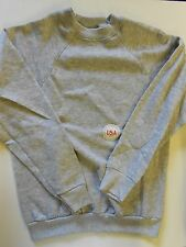 "NOS Vintage '70's Healthways Sweatshirt Size Medium 36""-38"" Gray Made in USA!"