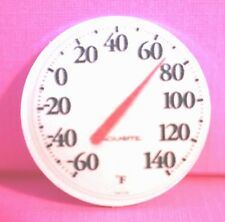 "Dollhouse Miniature Temperature Thermometer   (1"" ROUND)  CK 7"