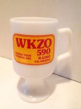 WKZO 590 Radio Active 3 TV Kalamazoo Grand Rapids Michigan Pedestal Coffee Mug