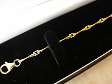 QUALITY 9CT GOLD FANCY LINK BRACELET MADE IN ITALY BRAND NEW IN BOX PURE QUALITY