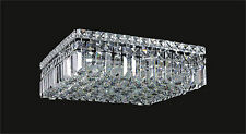 "6-Light Contemporary-Style CRYSTAL Chrome CEILING FIXTURE (L16"" x W16"" x H5.5"")"