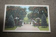 Vintage Postcard View Of State Park From Capitol, Augusta Maine