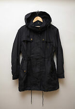 Burberry BRIT Hooded Cotton Blend Parka Coat Jacket Size UK 12 US 10
