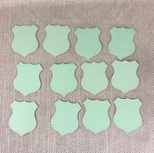 12 Antique Victorian Die Cut Shield Card Shape Table Place Setting Tag Green