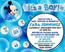 Disney Baby Mickey Mouse Baby Shower Invitations 12 pk Personalized It's a Boy