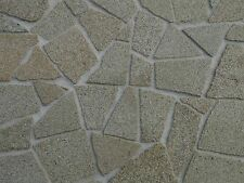 25 sq ins REAL Grey Stone Dolls House Garden Crazy Paving