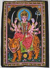 * Indian Hindu Goddess Durga Sequined Wall Hanging * Fair Trade * Medium