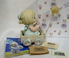 Precious Moments Wishing You a World Of Peace~Girl /Wagon w/Star Balloon~NEW~MIB