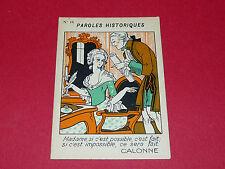 1920-1930 CHROMO GRANDE IMAGE ECOLE BON-POINT PAROLES HISTORIQUES CALONNE
