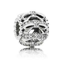 New! Authentic Pandora Sterling Silver Shimmering Sentiments Charm # 791779CZ