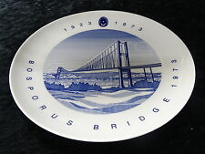 Collectors plate - Plate to commemorate 50 years of the Bosporus bridge, Turkey