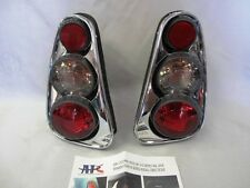 New Set 2002-2006 Mini Cooper Tail Lights Lamps Euro Retro 3D Chrome By APC