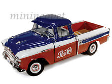 AUTOWORLD AW207 1957 CHEVROLET CAMEO PICK UP TRUCK 1/18 DIECAST PEPSI COLA