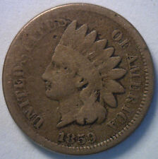 1859 Indian Head Copper Nickel Cent Penny Type Coin Good-L2